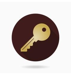 Fine Key Flat Icon vector image