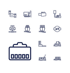 13 port icons vector