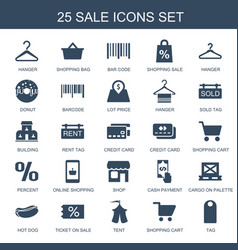 25 sale icons vector