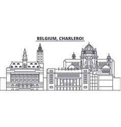 Belgium charleroi line skyline vector