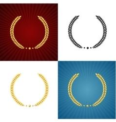 Black and Gold Laurel Set vector