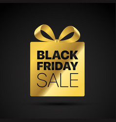 black friday golden shopping tag label vector image
