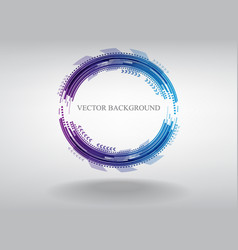 blue circle technology on gray background vector image