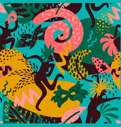 brazil carnival seamless pattern vector image