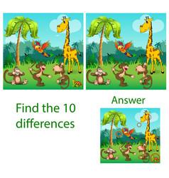 children the visual puzzle reveals ten vector image