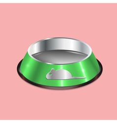 chrome pet dish vector image