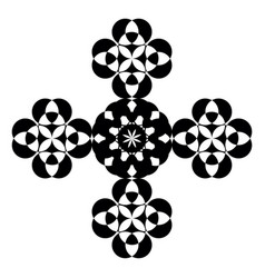 cross design made with geometrical shapes or color vector image