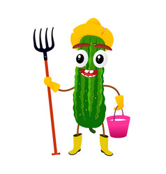 cucumber cartoon vector image