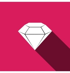 diamond Icon with long shadow vector image