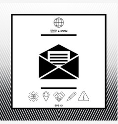 Email symbol icon vector