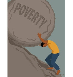 Endless struggle with poverty vector