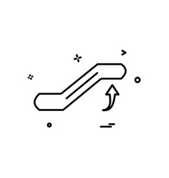 escalator icon design vector image