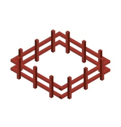 fence wooden isometric icon vector image