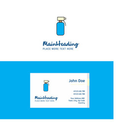 flat water shower logo and visiting card template vector image
