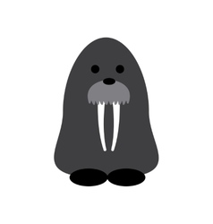 Flat web icon on white background walrus vector