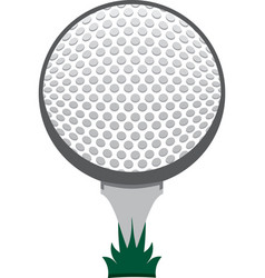 golf ball on tee icon graphic vector image