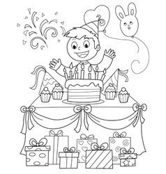 Happy birthday party vector image