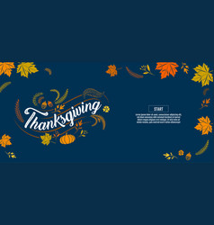 happy thanksgiving typographic calligraphy type vector image