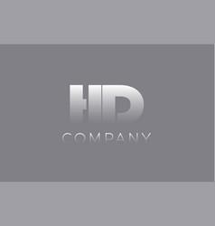Hd h d pastel blue letter combination logo icon vector