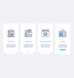 household detergents washer equipment in laundry vector image
