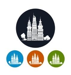 Icon Modern Big City vector