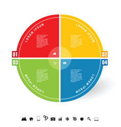 Infographic circle with icon vector