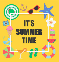 Its summer time background with elements for vector
