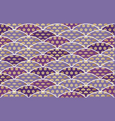 japanese auspicious seamless pattern vector image