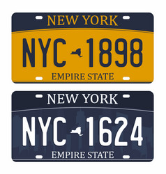 License plates isolated on white background new vector