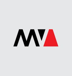 M and v - initials or logo mv - monogram or vector