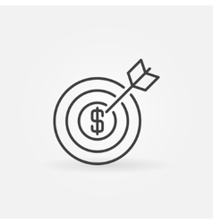 Money goal icon vector image