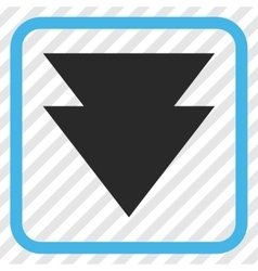 Move Down Icon In a Frame vector