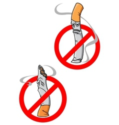 No Smoking Allowed warning signs vector image