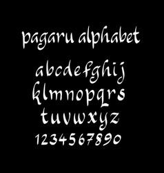 Pagaru alphabet typography vector