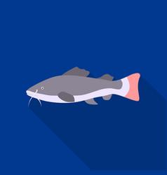 Phractocephalus hemioliopterus fish icon flat vector
