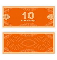 Play money Ten vector image