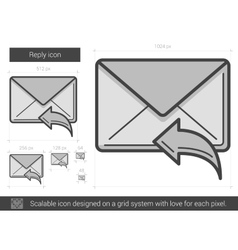 Reply line icon vector image