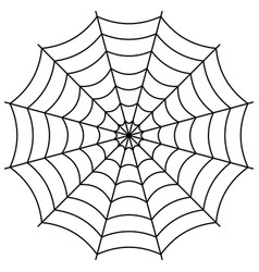 Round spider web cobweb vector