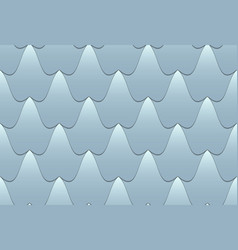seamless wavy tiled pattern vector image