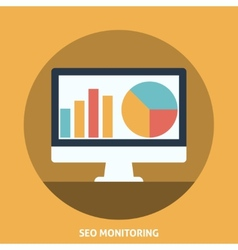 Seo Monitoring vector image