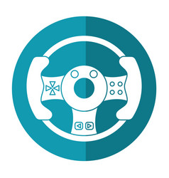 Steering wheel video game shadow vector