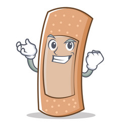 successful band aid character cartoon vector image