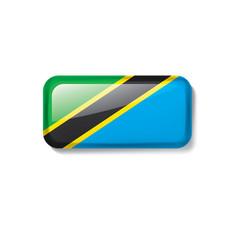 Tanzania flag on a white vector