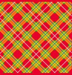 tartan pattern scottish plaid scottish cage vector image
