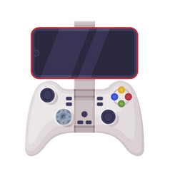 video game controller with smatphone joystick of vector image