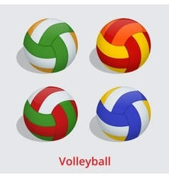 volleyball ball isolated on a white background vector image