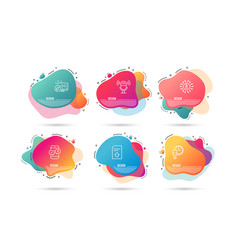 Waiting microphone and phone survey icons upload vector