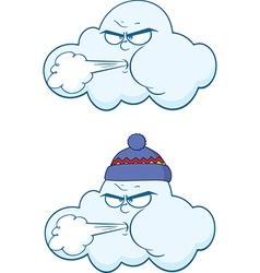 Weather cartoons vector image