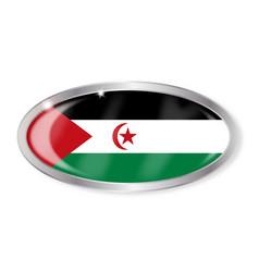 Western sahara flag oval button vector
