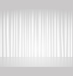white empty stage with curtain wedding template vector image
